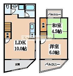 [一戸建] 大阪府堺市東区北野田 の賃貸【/】の間取り