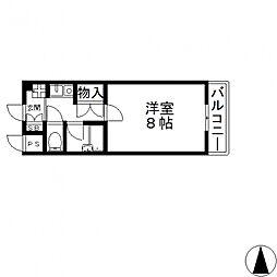 ヴィガ中央長田[602号室号室]の間取り