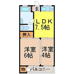 愛知県名古屋市千種区大島町3丁目の賃貸マンションの間取り