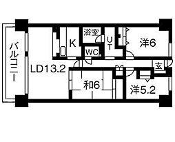 井清寿マンション[4階]の間取り