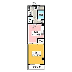 K.KCO.,LTD.[5階]の間取り