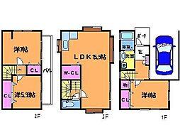[一戸建] 東京都調布市調布ケ丘4丁目 の賃貸【/】の間取り