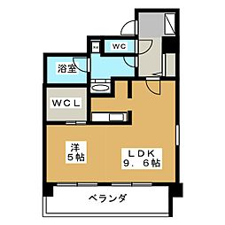 メゾン ド オーキッド[9階]の間取り