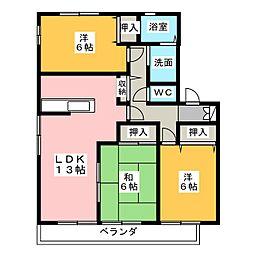 サイレントガーデン[1階]の間取り