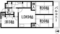 ロックウェルハウス[3階]の間取り