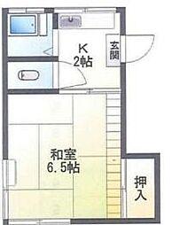 東京都北区志茂4丁目の賃貸アパートの間取り