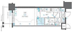JR総武線 浅草橋駅 徒歩5分の賃貸マンション 2階1Kの間取り