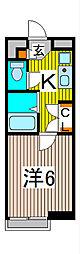 コーポ並木[2階]の間取り