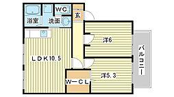キルシュハウス[A201号室]の間取り