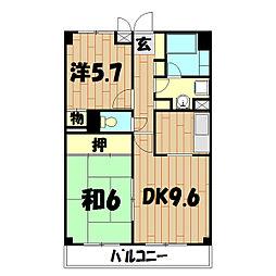 アルスモトムラ[2階]の間取り