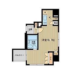 HF三田レジデンス[1004号室]の間取り