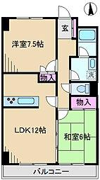 東京都北区岩淵町の賃貸マンションの間取り