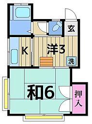 鈴木コーポ[201号室]の間取り