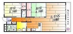 グランドールI[5階]の間取り