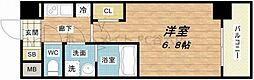 ジアコスモ江戸堀パークフロント 3階1Kの間取り