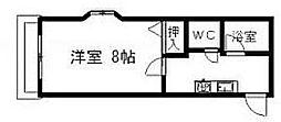 宮城県仙台市太白区中田3丁目の賃貸アパートの間取り