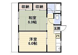 千葉県浦安市富士見3丁目の賃貸アパートの間取り