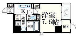 JR東海道・山陽本線 摩耶駅 徒歩8分の賃貸マンション 8階1SKの間取り