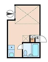 ハウス&パーク品川源氏前[2階]の間取り