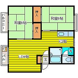 北海道札幌市東区東苗穂十条3丁目の賃貸アパートの間取り