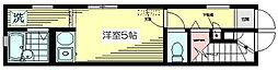 東京都杉並区天沼2丁目の賃貸アパートの間取り