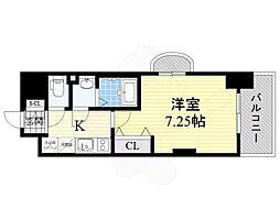 Osaka Metro御堂筋線 なかもず駅 徒歩4分の賃貸マンション 7階1Kの間取り