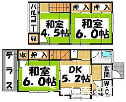 [一戸建] 福岡県春日市上白水3丁目 の賃貸【/】の間取り
