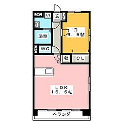 オーシャン2[4階]の間取り