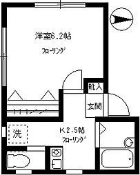 クレール柿の木坂[101号室]の間取り