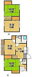 [一戸建] 福岡県福岡市城南区友丘3丁目 の賃貸【/】の間取り