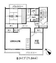 第3森田マンション[4階]の間取り
