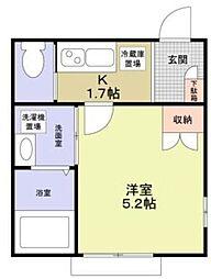 Forest Maison KAMEDA[2階]の間取り