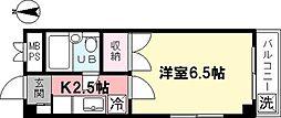 メゾン中沢[201号室]の間取り
