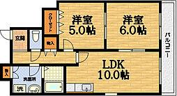パークアベニュー藤ノ森[6階]の間取り