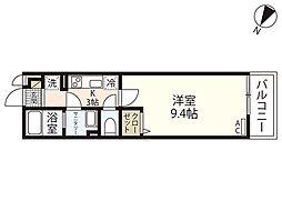 広島電鉄5系統 猿猴橋町駅 徒歩8分の賃貸マンション 1階1Kの間取り