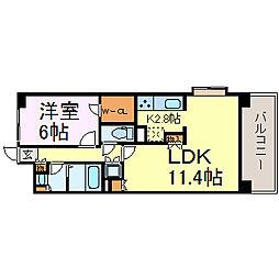 S-FORT山王[9階]の間取り