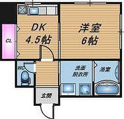 大阪府大阪市北区浪花町の賃貸アパートの間取り