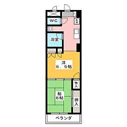エンブレム元浜[6階]の間取り