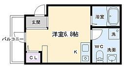 KYOTO HOUSE西寺 3階1Kの間取り