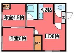 村上荘[2階]の間取り