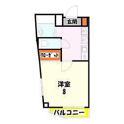 西竹ノ塚BLD[201号室]の間取り