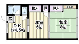 松本マンション[205号室]の間取り