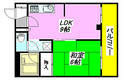 ファースト小阪 301号室[3階]の間取り