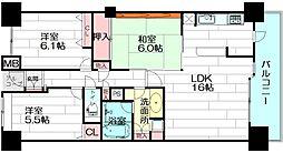 ディアステージ江坂G−TOWER[10階]の間取り