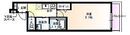 フジパレス長洲本通2番館 3階1Kの間取り