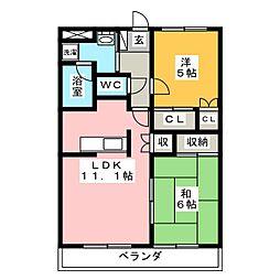 エバーハイツYASUDA I[2階]の間取り