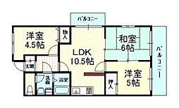 メゾン・ドュ・ポルテマイヨ[3階]の間取り