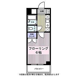 東京都八王子市万町の賃貸アパートの間取り