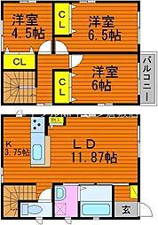 [一戸建] 岡山県倉敷市浜町1丁目 の賃貸【/】の間取り