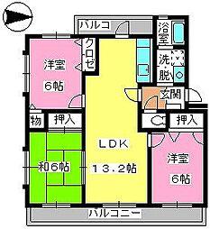 第3大野ビル[2階]の間取り
